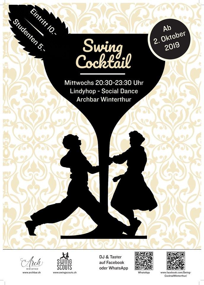 jeden Mittwoch ab dem 2.10.2019 # Swing Cocktail